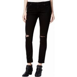 Lucky Brand Lolita black ripped knee ankle jeans